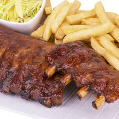 The secret of the EASY ribs recipe! Source by hlaurincyr Easy Rib Recipes, Pork Rib Recipes, Easy Healthy Recipes, Easy Meals, Bbq Ribs, Pork Ribs, Barbecue, Sous Vide, Food Porn