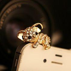 $2.63 New Arrival Cute Style Faux Gem Embellished Koala Shape Cellphone Dustproof Plug