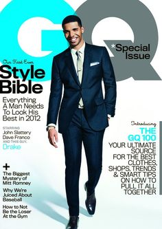 Drake on the cover of March 2012 GQ