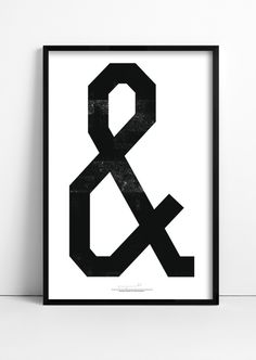 Anthony Burrill - Ampersand - Woodblock print for Print & Paste. Anthony Burrill, Print Design, Graphic Design, Cool Typography, Lettering, Cool Posters, Woodblock Print, Home Art, Modern Art