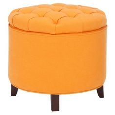 Check out this item at One Kings Lane! Arabella Storage Ottoman, Tangerine