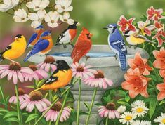 Garden Birdbath - (336 pieces)
