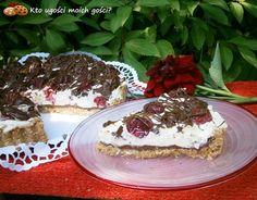 Tarta śmietankowo-czekoladowa z malinami (bez pieczenia)