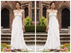 SLEEVELESS CHIFFON SLIM A-LINE SWEETHEART WEDDING DRESS WITH LACE SHOULDER STRAPS