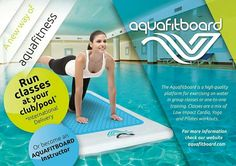 Experience a new way of aquafitness with the aquafitboard. Run classes at your club or just enjoy your workout anytime, anywhere