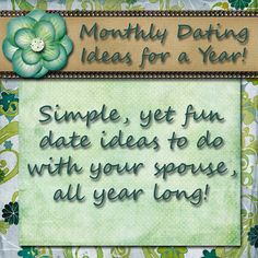 Fun, affordable monthly date night ideas for a year by Simplistically Sassy