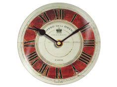 "10"" Hotel Clock glass dial http://www.clocksaroundtheworld.com/floating-circus-clocks.html"
