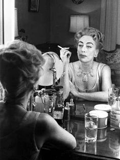 1959. Joan Crawford. Shot by Eve Arnold.