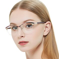 068f1e0adf OCCI CHIARI Women Shining Rectangular Metal Optical Eyewear Frame With  Clear Lenses Review Optical Eyewear