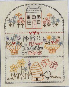 Stitchery patterns by Red Brolly and Bronwyn Hayes