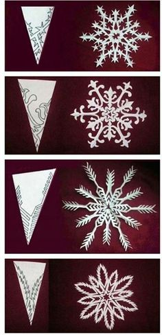 DIY paper medallions miniaturized & DIY paper snowflakes here to make your . - DIY paper medallions miniaturized & DIY paper snowflakes here to beautify your holidays [detailed i - Winter Christmas, All Things Christmas, Christmas Holidays, Christmas Decorations, Cheap Christmas, Christmas Paper, Holiday Decorating, Winter Wonderland Decorations, Christmas Ideas