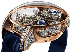 "Jacob & Co. Astronomia Tourbillon Baguette Watch For $1,015,000 - on aBlogtoWatch.com ""Last year in 2014, Jacob & Co. debuted a very interesting watch with an extravagant movement they called the Astronomia Tourbillon... The sheer complexity of the movement in the watch requires a lot of tweaking to make it work and years of effort. For 2015, however, it looks like the Jacob & Co. Astronomia Tourbillon is back with a new case design as well as a very much 'Jacob & Co...'"" Diamond Watches For Men, Best Watches For Men, Luxury Watches For Men, Amazing Watches, Fine Watches, Men's Watches, Beautiful Watches, Casual Watches, Cool Watches"