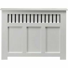 New Hampshire MDF Radiator Cabinet - White - 90x120cm from Homebase.co.uk