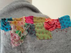 refashioned cashmere sweater detail