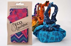 5 Ways to Pack a Zero Waste Lunch article.  Pictured is the Eco Lunchbox Furoshiki ECO lunchwrap.