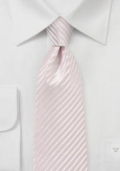 Krawatte Streifenstruktur hellrosa