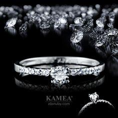 Zásnubný prsteň Diamond Collection 2015, z bieleho 14 karátového lesklého zlata, v ktorom je vsadený 1 briliant o priemere 4mm a 10 briliantov s priemerom 1,25mm. Možnosť vyhotovenia v žltom aj v červenom prevedení a v každej veľkosti. Wedding Rings, Engagement Rings, Jewelry, Fashion, Enagement Rings, Moda, Jewlery, Jewerly, Fashion Styles