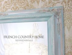 Sold by Etsy, but saving this  FRENCH COUNTRY HOME French Provincial Mirror can possibly be duplicated with a modern frame