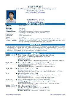 Example Of Resume Format For Fresh Graduate 1 Cv Resume Sample Job Resume Job Resume Examples