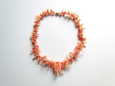 Vintage Coral Branch Necklace c.1940s by LUXXORVintage on Etsy, $88.00