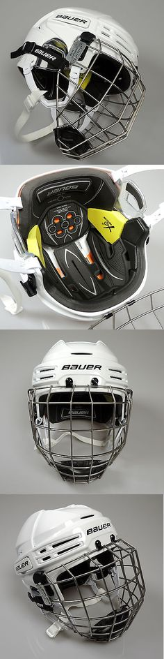 Hats and Headwear 159125: New Bauer Re-Akt 75 Senior Ice Hockey Helmet Combo W/ Cage White BUY IT NOW ONLY: $159.99