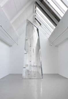 Fiona Banner, Nude Wing, 2011, polished Tornado airplane wing.