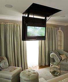 drop down TV in the bedroom. Can we do this in the master?