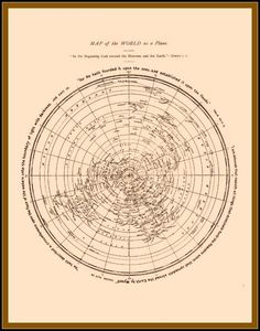 Rare the new map of the world flat earth circa 1899 flat earth map of the world as a plane david wardlaw scott gumiabroncs Images