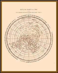 [Flat Earth]  Map of the World as a Plane :  David Wardlaw Scott  :  circa 1901