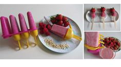 Scrummy yummy and healthy smoothies made with summer fruit.