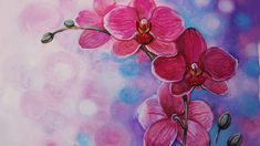 Disegna Orchidee/ ORCHID PAINTING with oil,TUTORIAL/Научиться рисовать орхидею - YouTube