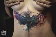 Moth Abdomen Tattoo http://tattooideas247.com/moth-keyhole/