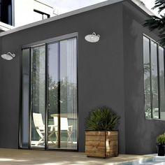 maison ossature avec bardage gris anthracite fa ade bois fibro ciment ou m tallique pinterest. Black Bedroom Furniture Sets. Home Design Ideas