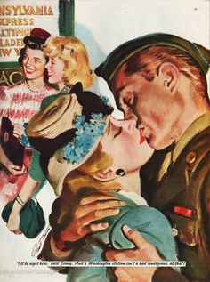 #vintageillustration #WWII# Illustration 1944  http://www.envisioningtheamericandream.com