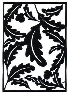 cut paper design Oak and Acorns