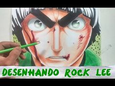 DESENHANDO ROCK LEE:  ANIME NARUTO - SPEED ART