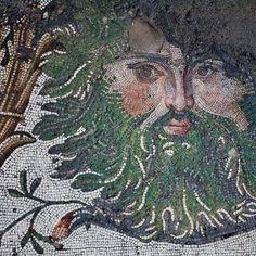 Byzantine Era mosaic in Istanbul, (c. 5th century CE)