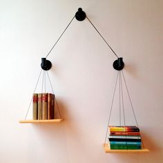 Show Off The Books You've Read on Balancing Bookshelf - Design Milk - I really want this shelf.