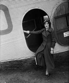 1934:  Paddy Naismith, a pilot and motor racer, is in uniform for her job as airhostess for the British Air Navigation Company on March 24
