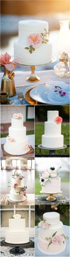 simple-white-wedding-cakes-with-flowers-inspirations.jpg (600×2202)