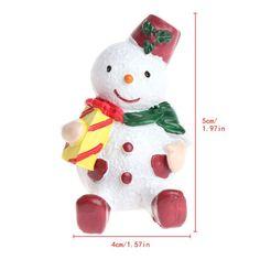 1Pc Cute Snow Man/Dog/Cat Christmas Figurine Decor Miniature Resin Toy Christmas Festival Tabletop Decoration Craftwork Gift
