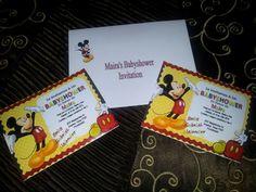 custom baby shower invitations mickey mouse theme