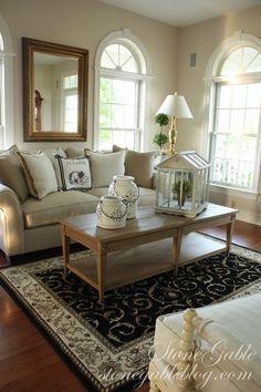 Stone Gable living room. love