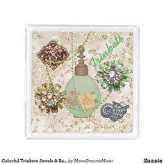 #ColorfulTrinkets #JewelsAndBaubles #SquarePerfumeTray by #MoonDreamsMusic