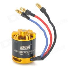 DYS BE2217-800KV Brushless Motor. Brand: DYS - Model: BE2217-800KV - Material: Magnetic materials - Color: Black + yellow - Rated voltage: 11.1V - Rated current: 11A - Rated torque: 830nm - Efficiency: 90% - Rated rpm: 30000 rpm - Rated power: 270W - Size: 28mm x 36mm - Apply for RC model, aircraft - Packing List: - 1 x Motor - 1 x Fixed mount - 1 x Screws kit. Tags: #Hobbies #Toys #R/C #Toys #Other #Accessories