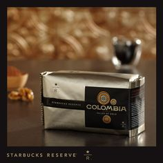 Starbucks Reserve® Colombia Supremo Valley of Gold.  Tasting Notes: Sweet walnut and cocoa  Enjoy this with:  A warm tray of chocolate cookies to share with good friends.