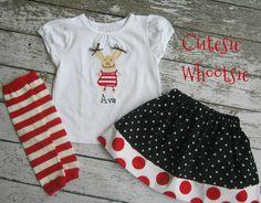 Olivia the Pig Applique Shirt and Twirl Skirt Birthday Set Sizes 18 2 3 4 5 6 8 10. $39.00, via Etsy.