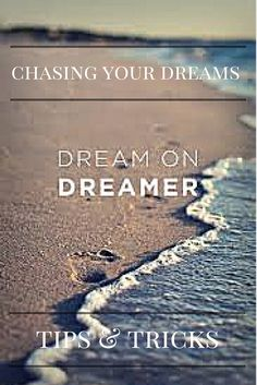 Have you ever wondered why it's so hard to chase our dreams? Maybe because life gets in the way or we have to cross obstacles to get to our dreams. One thing though, we can't ever give up.My advice on chasing dreams.