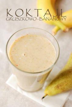 Koktajl gruszkowo - bananowy