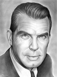 Fred MacMurray, Actor. By Artist Greg Joens  www.gregjoens.com